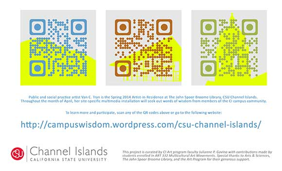 To learn more, please visit http://campuswisdom.wordpress.com/csu-channel-islands/
