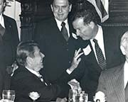 Robert J. Lagomarsino with President Ronald Regan