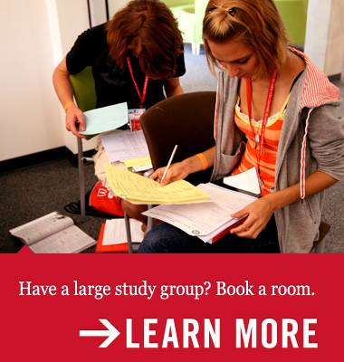 Large study group? Book a room.